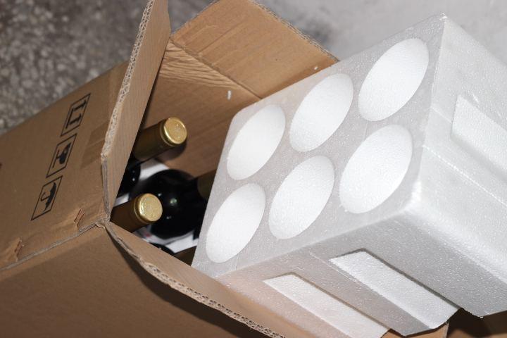 葡萄酒防震泡沫包装 酒类成型泡沫定制