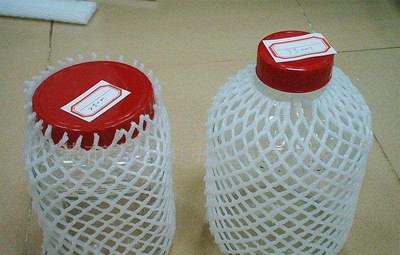 佛山泡沫厂家 生产玻璃瓶防震泡沫网套及水果防护套